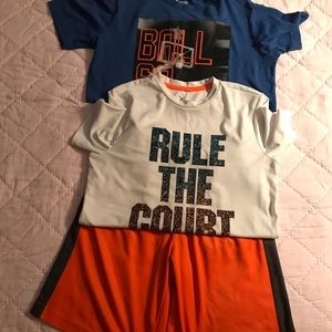 Old navy shorts and 2 shirts size L/G 10/12